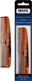 Wahl Beard, Moustache & Hair Pocket Comb for Men's Grooming - Handcrafted & Hand Cut with Cellulose Acetate - Smooth, Rounded Tapered Teeth - Model 3324