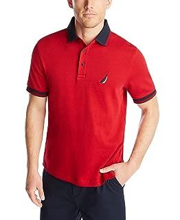 Men's Short Sleeve 100% Cotton Tipped Polo Shirt