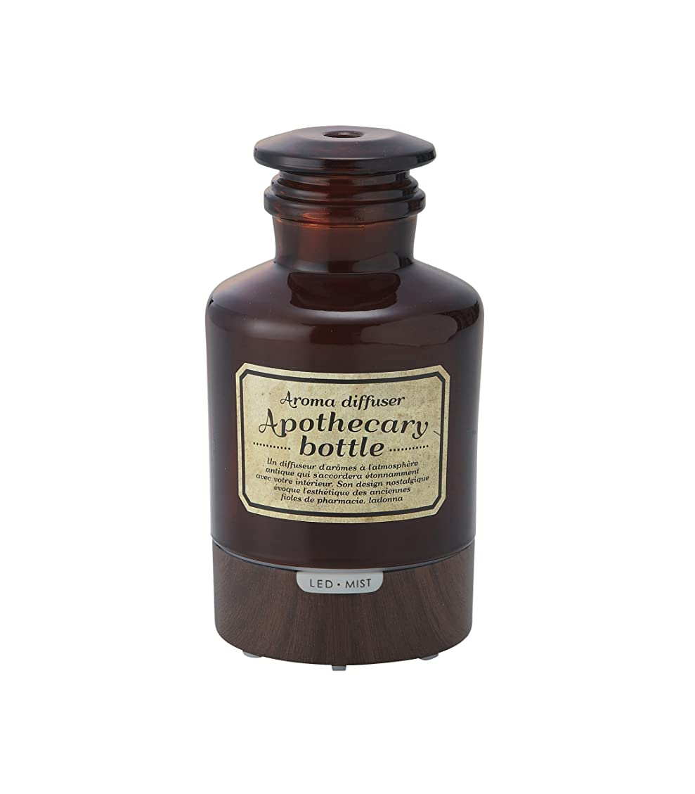 救い競うアルコーブラドンナ アロマディフューザー アポセカリーボトル ADF21-AB ブラウン