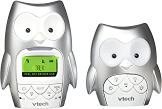 VTech DM225 Owl Audio Baby Monitor with up to 1,000 ft of Range, Vibrating Sound-Alert, Talk-Back Intercom, Digitized Transmission & Night Light