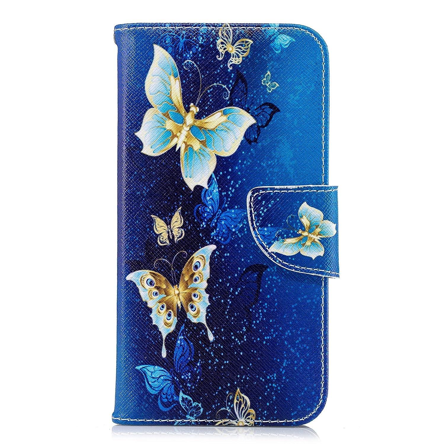 iPhone XR Case, Lomogo Leather Wallet Case with Kickstand Card Holder Shockproof Flip Case Cover for Apple iPhone XR - LOBFE12817#7