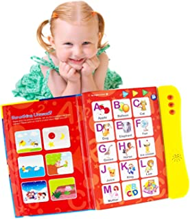 ABC Sound Book for Children. English Letters & Words Learning Book, Fun Educational Toys. Activities With Numbers, Shapes,...