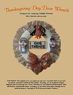Thanksgiving Day Door Wreath: Plastic Canvas Pattern
