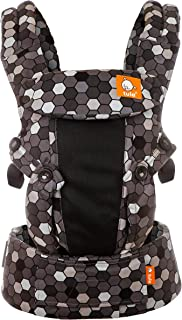 Baby Tula Coast Explore Mesh Baby Carrier 7 – 45 lb, Adjustable Newborn to Toddler Carrier, Multiple Ergonomic Positions Front and Back, Breathable – Coast Buzz, Black/Gray Honeycombs