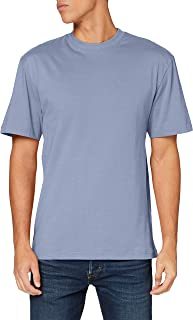 Urban Classics Men's Basic Crew Neck Tall Tee Oversized Short Sleeves T-Shirt with Dropped Shoulders, 100% Jersey Cotton