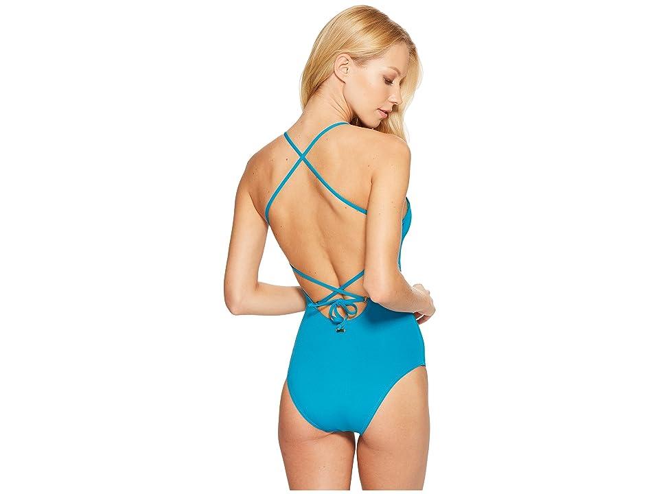 Roxy Strappy Love One-Piece Swimsuit (Mosaic Blue) Women