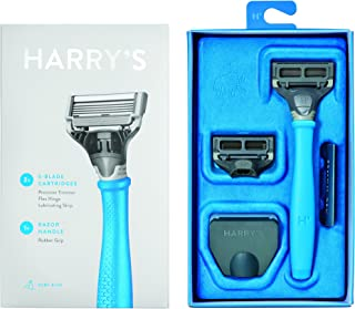 Harry's Razor With 2 Blade Cartridges Surf Blue