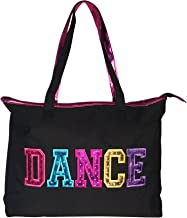 Dance Tote Bag With Multicolored Dance Print