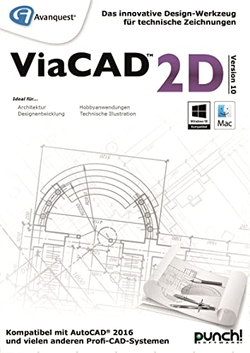 ViaCAD 2D 10 - Das innovative Design-Werkzeug für technische Zeichnungen! Für Mac! [Download]