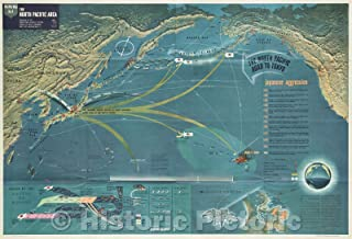 Historic Map - World War 2 in The North Sea Area NavWarMap No. 3, 1944 - Vintage Poster Art Wall Décor - 24in x 16in