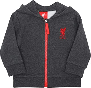 Liverpool FC Baby Zip-Through Charcoal Hoody LFC Official