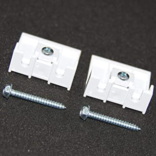 HomeAmore 2 White Brackets for Hunter Douglas Duette Shades, with 2 Screws Included in Package. 3/8