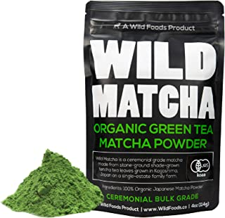 Organic Matcha Green Tea Powder, Ceremonial Grade Authentic Artisan Japanese Matcha, JAS Certified Organic, Shade Grown, Stone Ground, Small Batch (4 ounce - 114g)