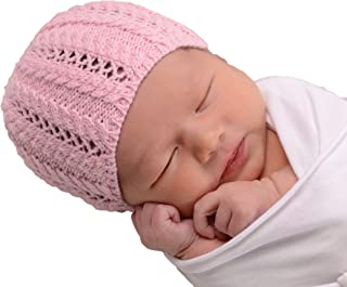Huggalugs Baby Lace Newborn Girl Hospital Hat in 2 Color Choices