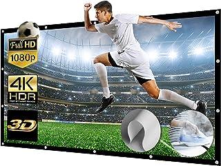 150 Inch Projectorscherm Opvouwbaar Gigantisch Full HD 3D 4K 16: 9 Projectiescherm Vrijstaand Projectorscherm Wasbaar Proj...