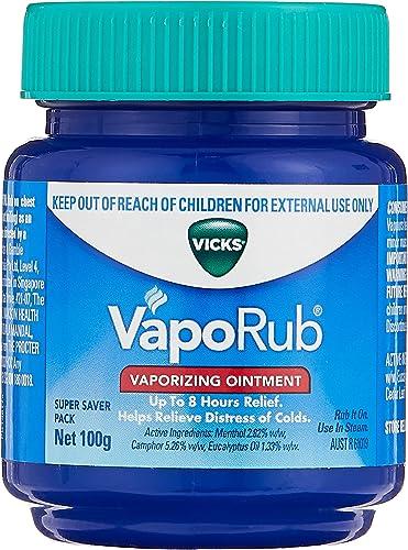 Vicks VapoRub Chest Rub and Vaporizing Ointment Decongestant 100g