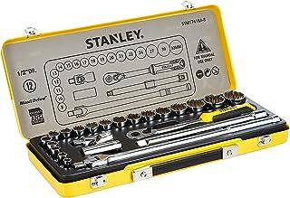 Stanley 1/2 inch Socket Set In Metal Tin 24 Pieces, Stmt74184-8, H17.8 x W43 x D5.2 cm