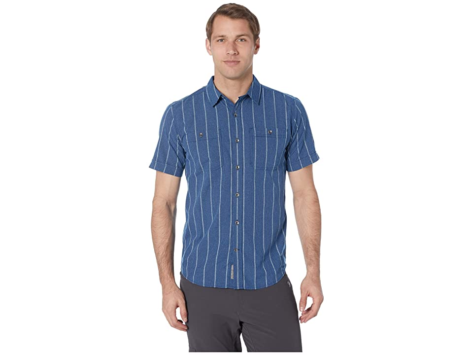 Royal Robbins Vista Dry Short Sleeve Shirt (Twilight Blue) Men