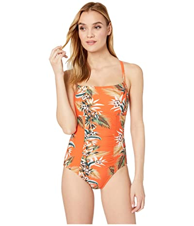 Seafolly Ocean Alley DD Cup Square Neck Maillot One Piece Swimsuit (Tangelo) Women