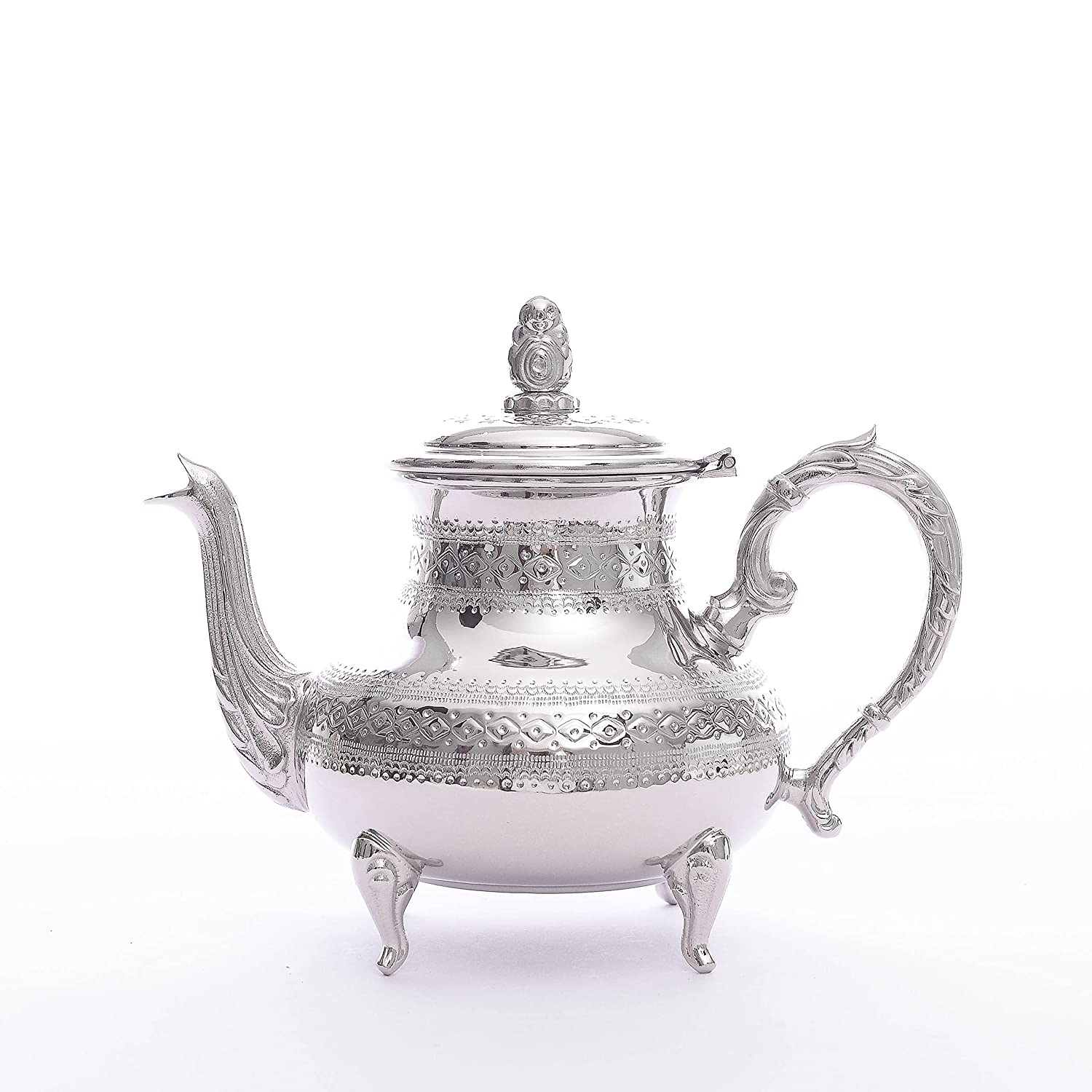 Popular Moroccan handmade brass teapot luxurious tea silver handcrafted low-pricing