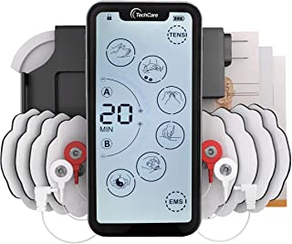 Tens Unit Muscle Stimulator [Lifetime Warranty] 24 Massage Mode Tens EMS Machine Device Touchscreen Massager Intensity Deep Tissue Shoulder Pain Relief Sciatica Tendonitis Plantar Fasciitis