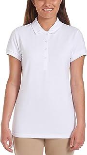 Nautica Women's School Uniform Short Sleeve Polo Polo Shirt