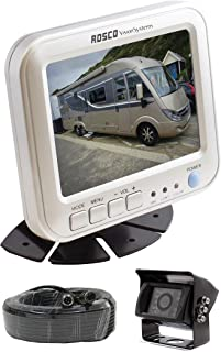 Rearview Backup Camera System Complete with 5-inch Color Monitor, Weather Proof Camera, 65-ft Harness.,