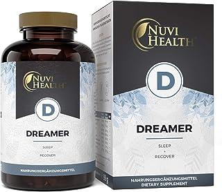 Dreamer – Premium: Mit 5-HTP, Ashwagandha, L-Tryptophan, GABA, Hopfen,..