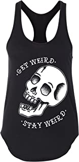 Women's Get Weird Skull Tank, Traditional Tattoo, Rockabilly, Tattoo Shirt, Punk