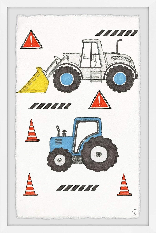 Marmont Hill - High Brand new order Handmade Little Monster x Framed Print 24 Trucks