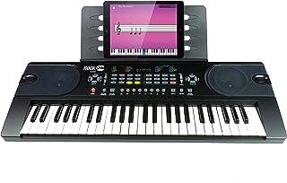 RockJam (RJ549) 49-Key Portable Electric Keyboard Piano With Power Supply, Sheet