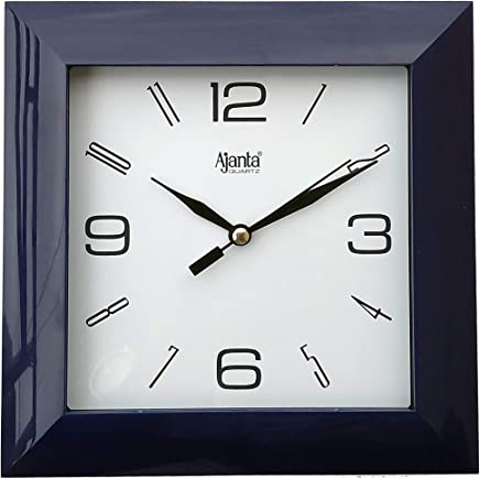 Ajanta Plastic Wall Clock (Black)