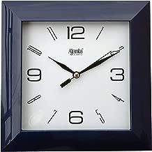 Ajanta Plastic Wall Clock (175 mm x 175 mm x 35 mm 1847 - Black)