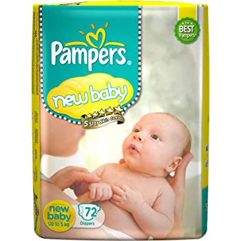 Pampers Active Baby Diapers, New Born, 72 Count