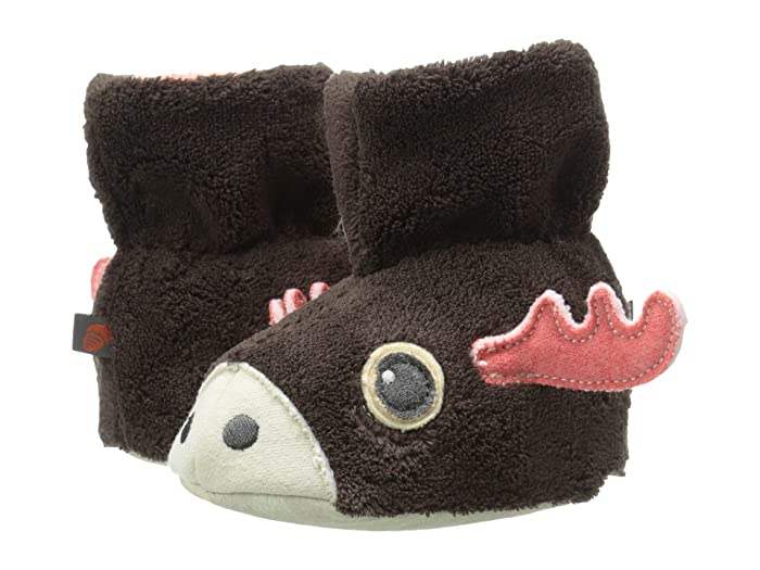 Image of Cute Moose Slippers for Infant and Toddler Boys