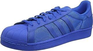 adidas superstar canvas bleu