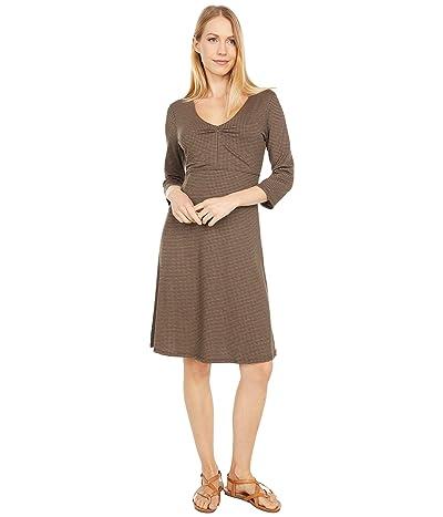 Toad&Co Rosalinda Dress (Chestnut Houndstooth Print) Women