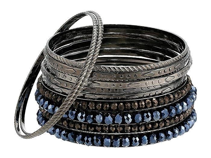 Steve Madden  12 Strand Rhinestone Bracelet (Blue) Bracelet