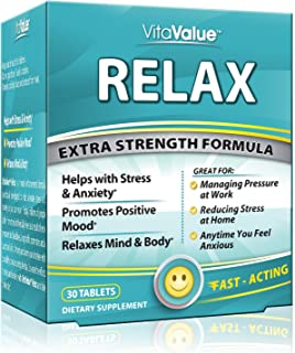 Vita Value Relax Extra Strength Formula, 30 Tablets