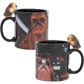 Vandor Star Wars Peeking Porg 20 oz. Sculpted Ceramic Mug,Multicolored
