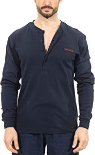 Titicaca FR Henley 7OZ 100% Cotton Flame Resistant Henley Style Long Sleeve T-Shirts