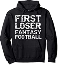 Funny League 2nd Place Trophy First Loser Fantasy Football Pullover Hoodie