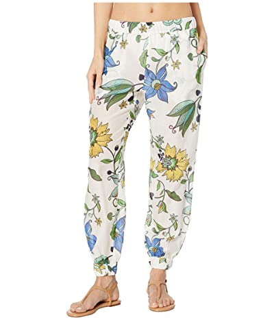 Tory Burch Swimwear Printed Beach Pants Cover-Up (New Ivory Love Floral) Women