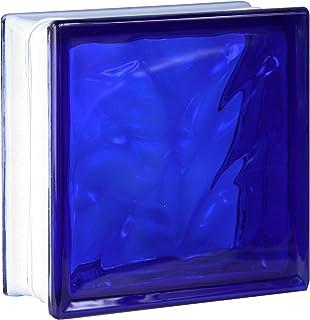 comprar comparacion 5 piezas FUCHS bloques de vidrio nube azul 19x19x8 cm