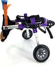 SYLPHID Adjustable Dog Wheelchair, 2 Sizes for Hind Legs Rehabilitation, for Dogs Weight 9 to 44 lbs, Wheelchair for Back Legs Lightweight