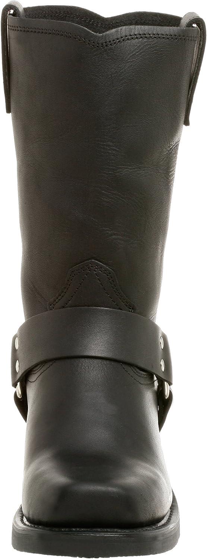 Dingo Mens Dean Harness Pull On Boots Mid Calf - Black