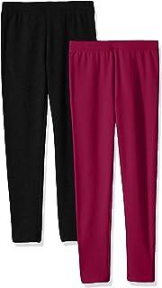 Amazon Essentials Girls' 2-Pack Cozy Leggings