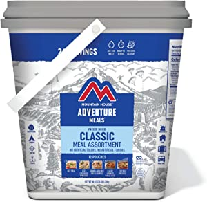 Mountain House Classic Bucket   Freeze Dried Backpacking & Camping Food   24 Servings (0081635A)