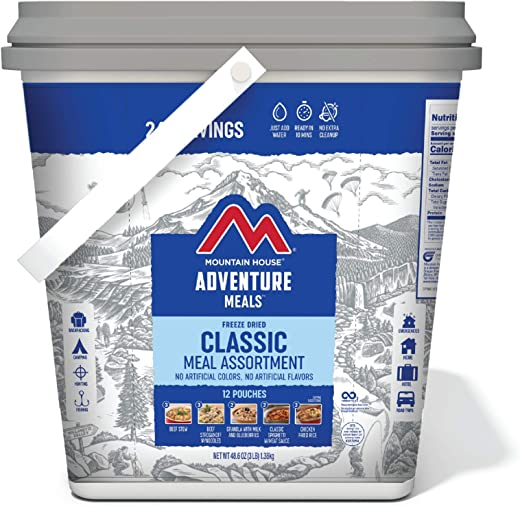 Expedition Bucket   Freeze Dried Backpacking & Camping Food   30 Servings