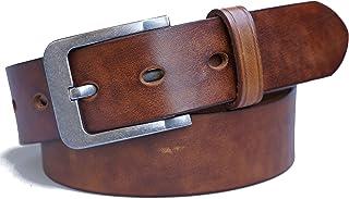 حزام جلدي رجالي من Jeereal ، أحزمة جينز كاجوال بحزام فستان كاجوال (بعرض 11⁄2 بوصة)